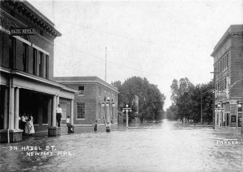 1915 – Newport Flood on Hazel Street