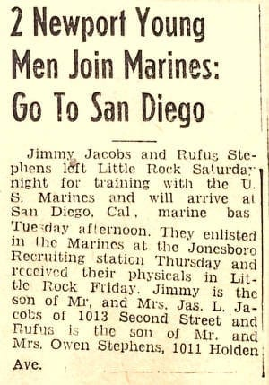 1950's – 2 Newport Young Men Join Marines