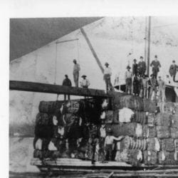 1870's – Steamboat A.R. Bragg with Cotton Shipment