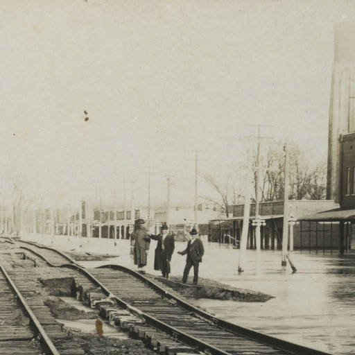 1916 – Flood in Downtown Newport