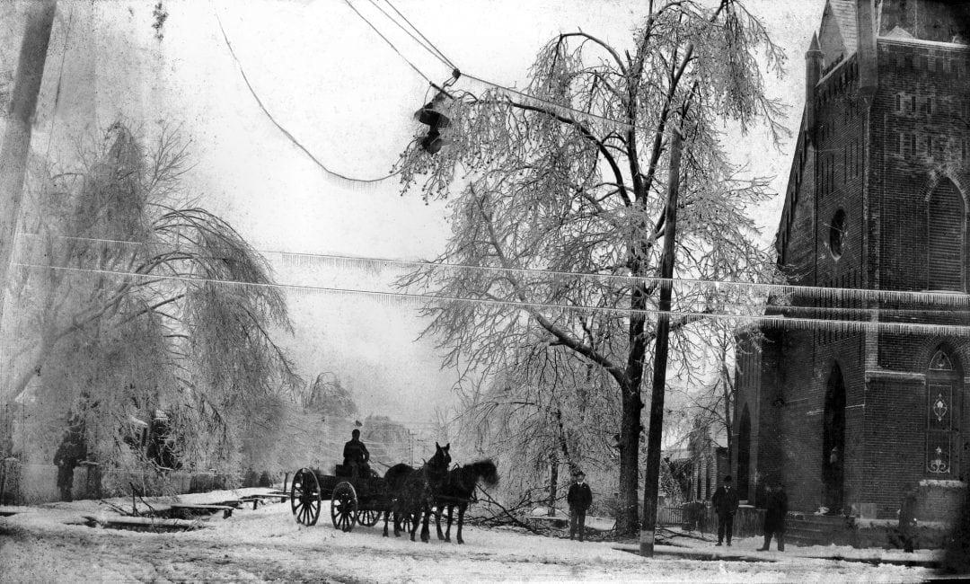 1890 's – Newport Ice Storm in 1898