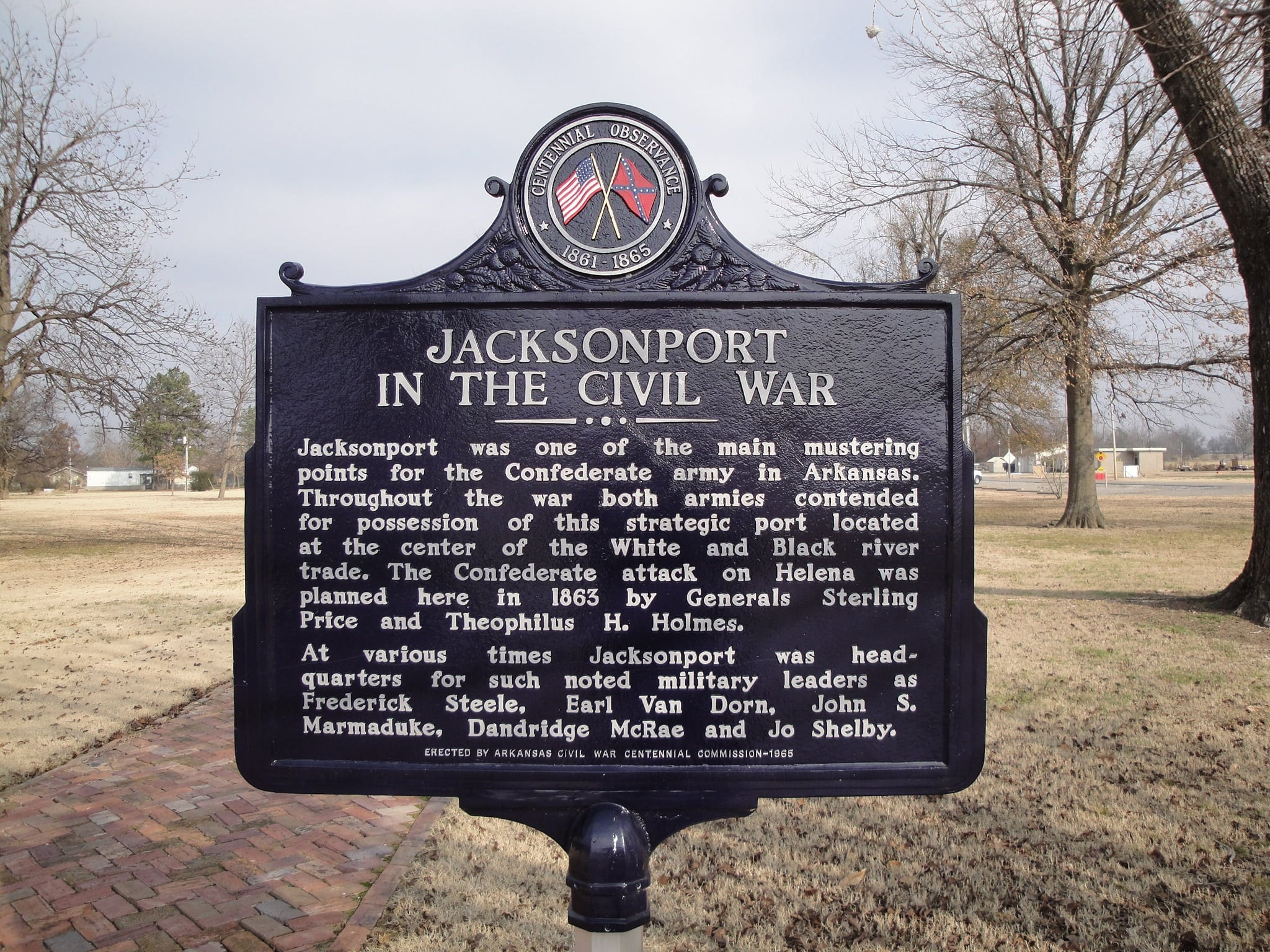1965 – Jacksonport in the Civil War Historical Marker