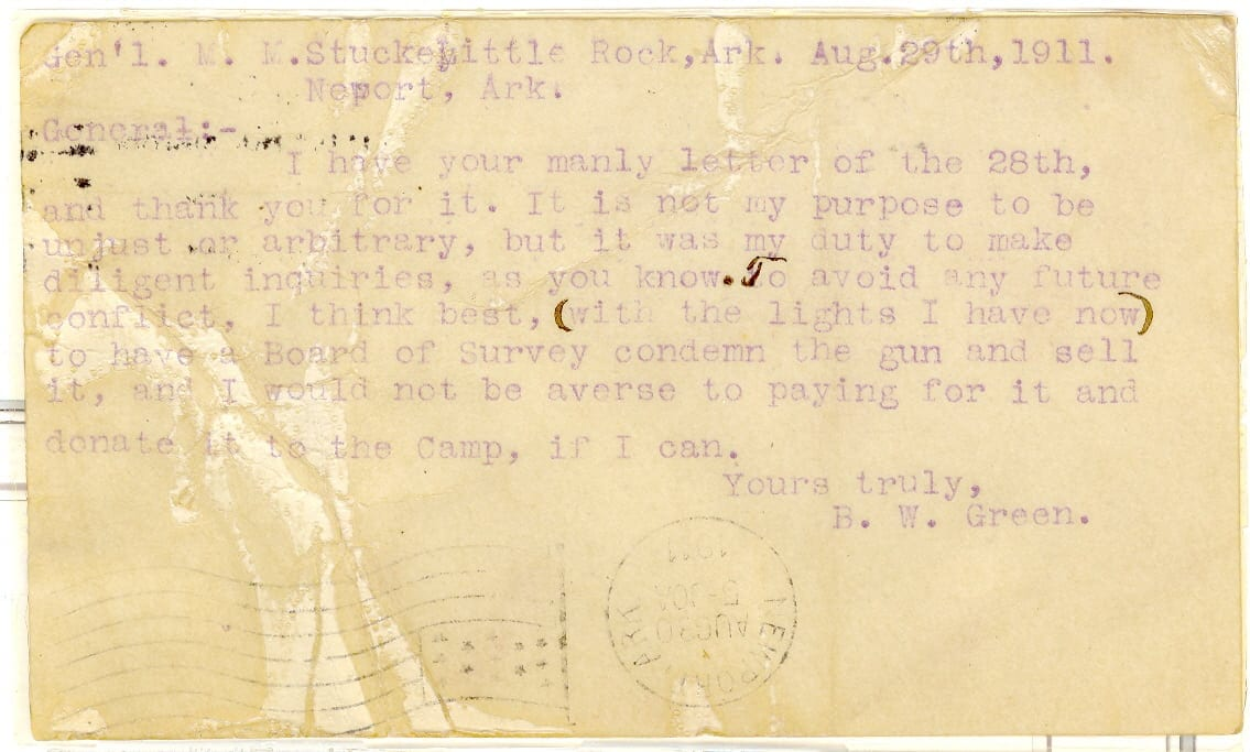 1911 – Newport Postcard to M.M. Stuckey