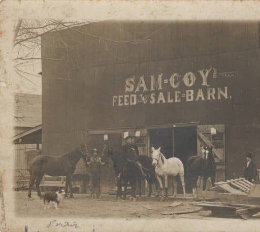 1900's – Sam Coy Feed and Sale Barn in Newport