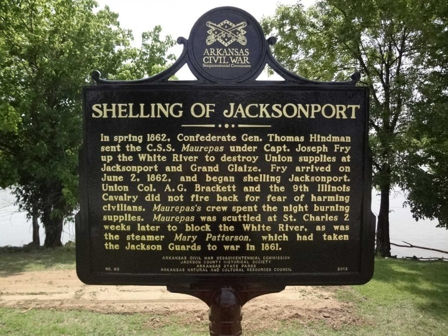 1965 – Shelling of Jacksonport Historical Marker