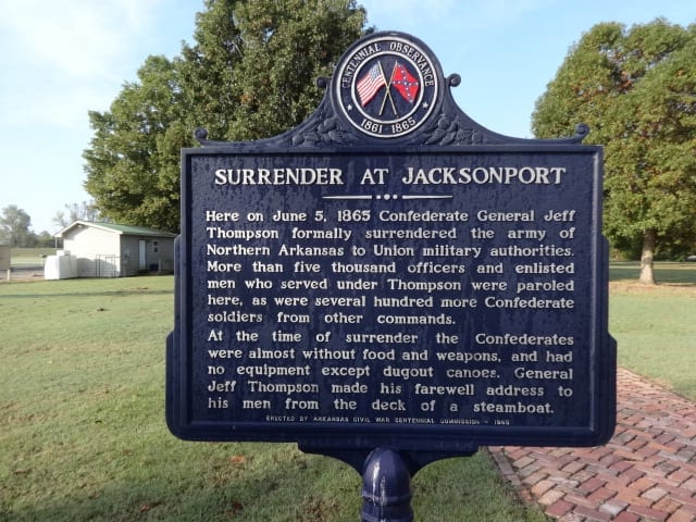 1965 – Surrender at Jacksonport Historical Marker