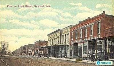1900's – Old Postcard Front Street Newport, Arkansas