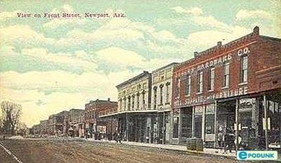 1900's – Old Postcard Front Street Newport, Arkansas
