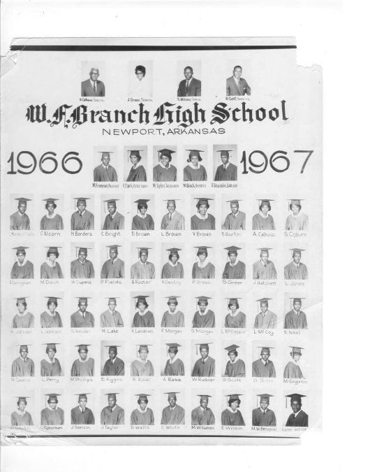 1967 – Branch High School Class Picture