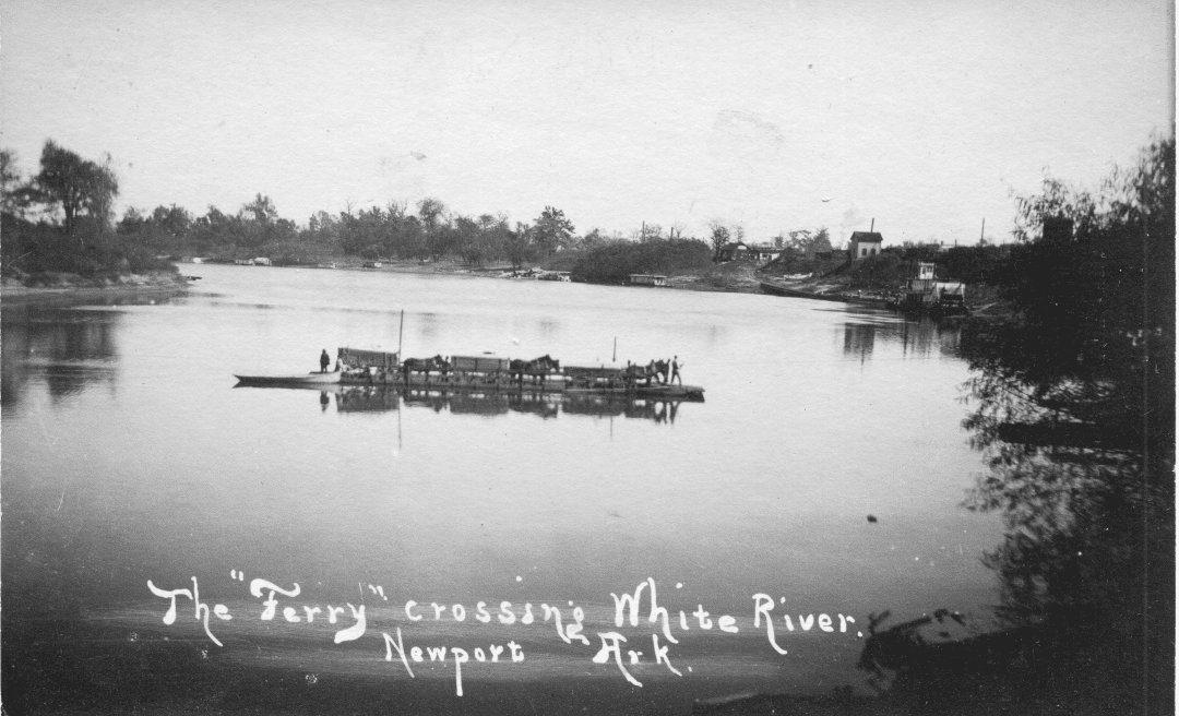 1890's – White River Ferry at Newport